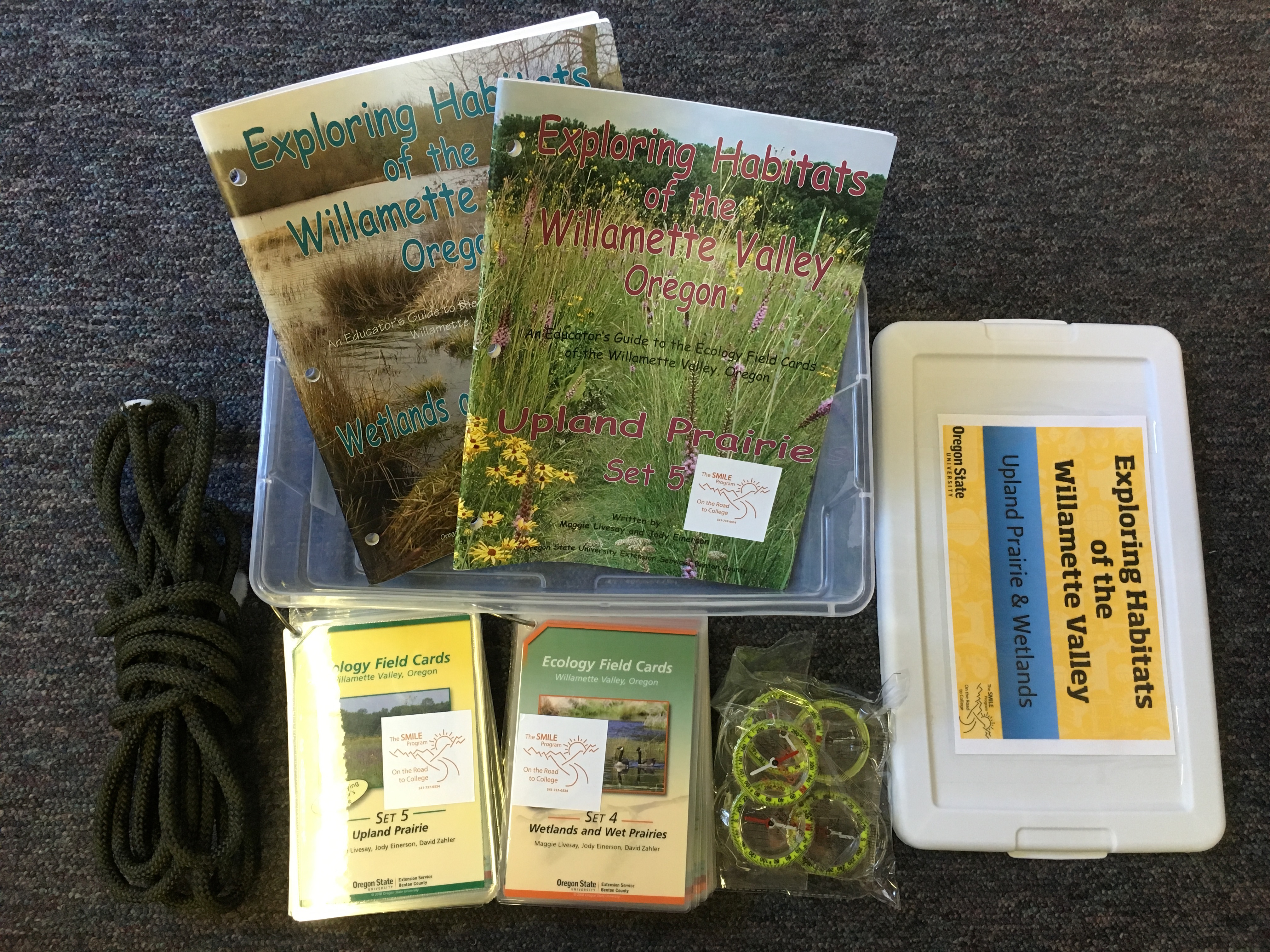 Contents of Exploring Habitats Upland Prairie and Wetlands Kit