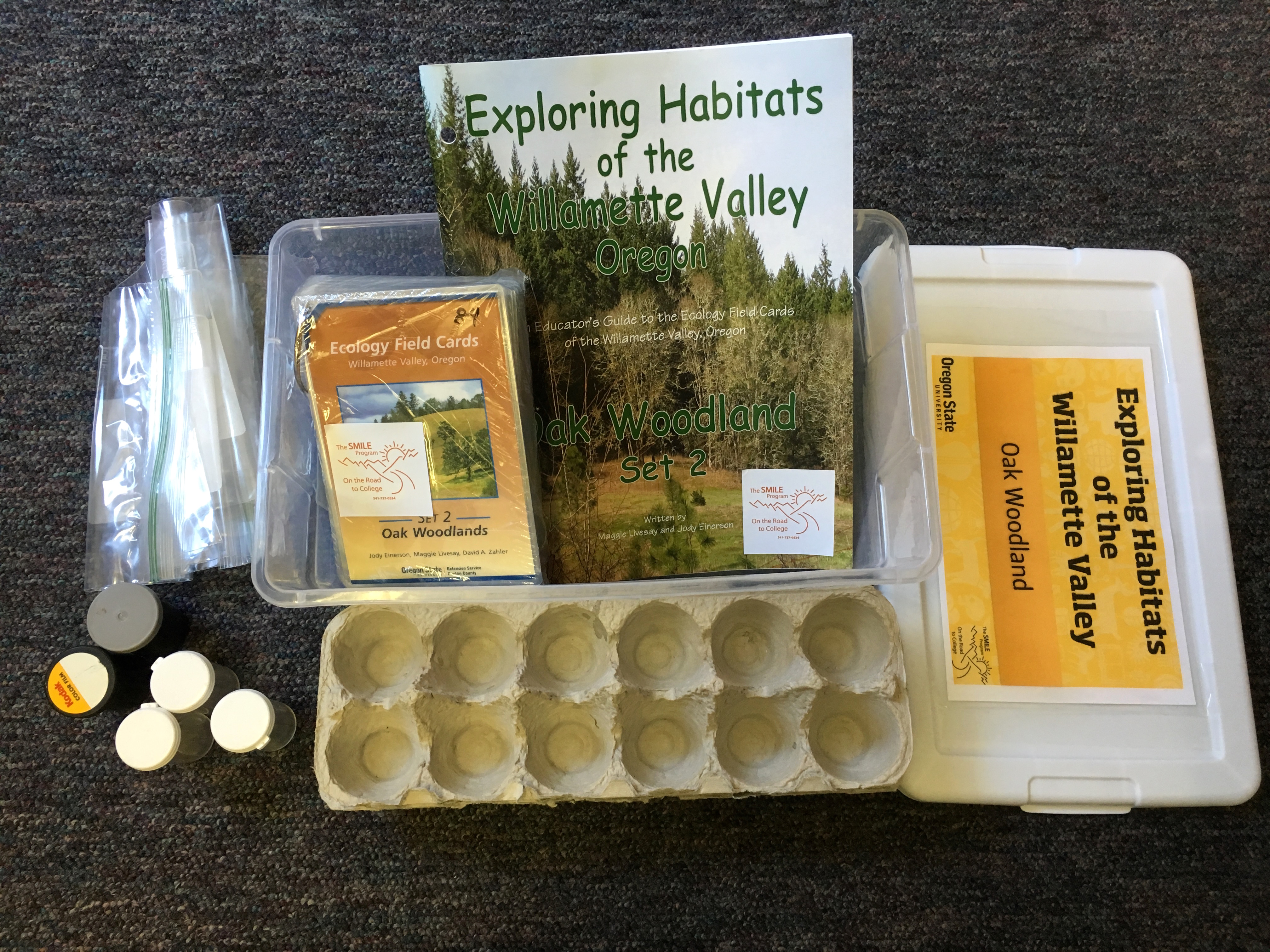 Contents of Oak Woodland kit