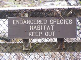 A picture of endangered species sign.
