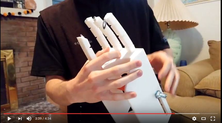 Mechanical hand prototype