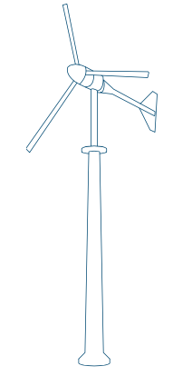 A renewable wind device.