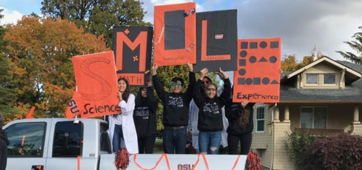Forest Grove SMILE Club in Homecoming parade