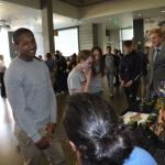Students discuss product offerings