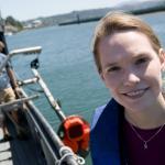 Dr Kelly Benoit-Bird on ship