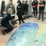 Students place robot on map