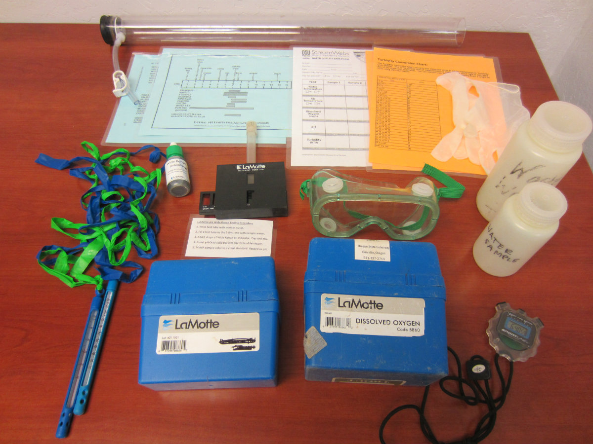 Contents of Water Quality kit